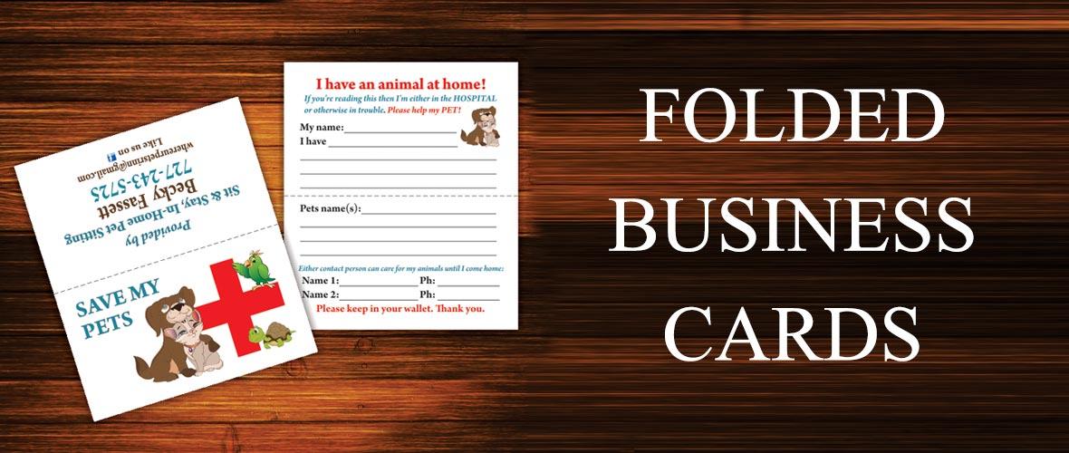 Echo Blueprint folded business cards